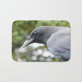 Curious American Crow Bath Mat