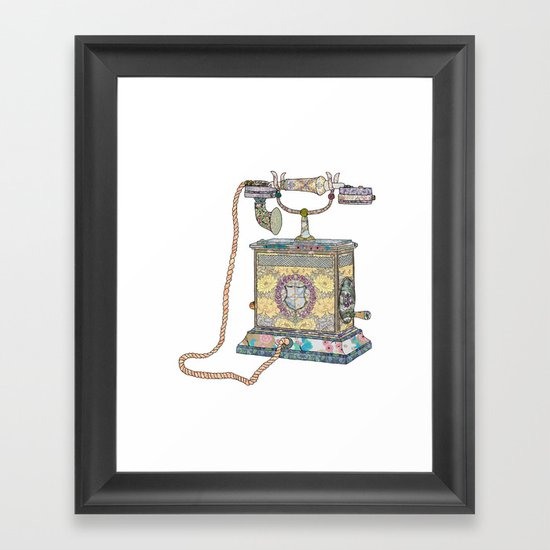 waiting for your call since 1896 Framed Art Print