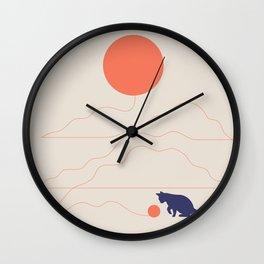 Cat Landscape 41 Wall Clock