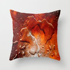 drops in copper Throw Pillow