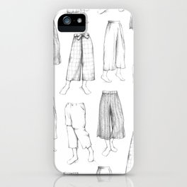 What's in my sketchbook_Culottes iPhone Case