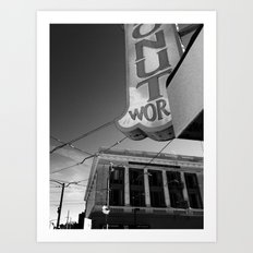 Donut World : Inner Sunset, San Francisco Art Print