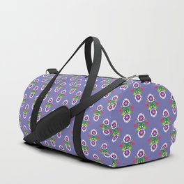 Folk - small composition on purple background Duffle Bag