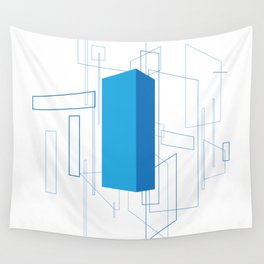 Blueprint #3 (blue) Wall Tapestry