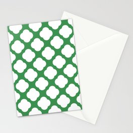 Cute green and white Stationery Cards