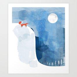 Fox In Nowhere Land Art Print