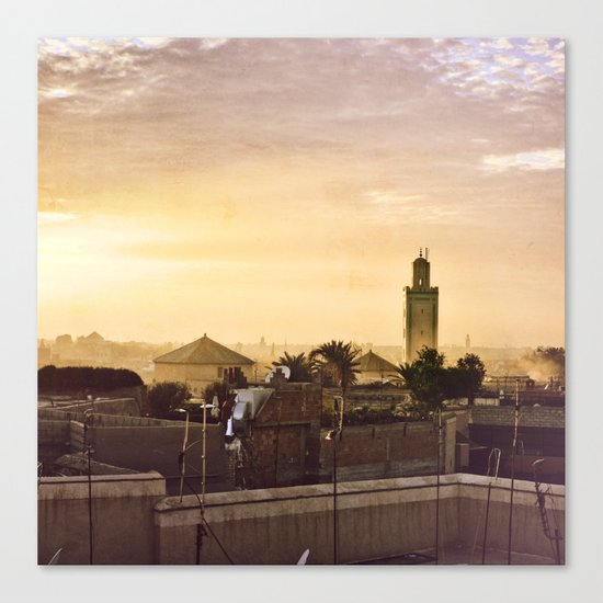 Médina sunset Canvas Print