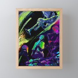 Colorful Jazz Framed Mini Art Print