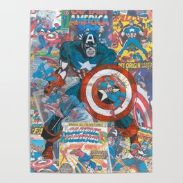 The American Superhero - Comic Art Poster