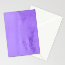 Lilac Fog Surrounding Anchorage Mountains Stationery Cards