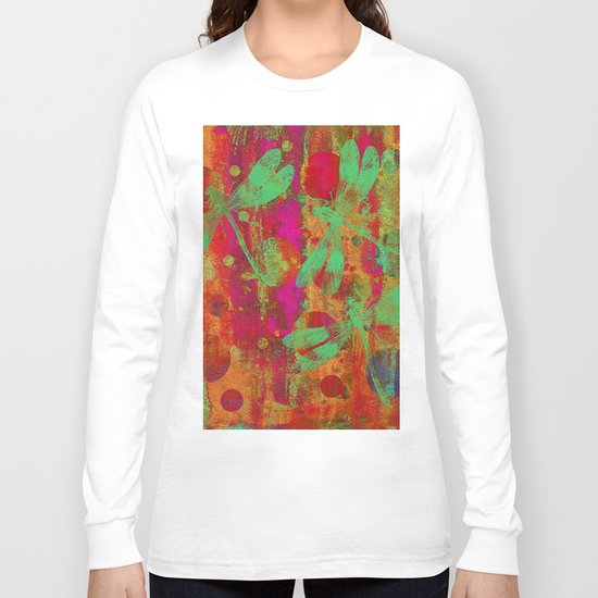 A Dragonflies and Dots W Long Sleeve T-shirt