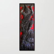 Thai Wood Carving B Canvas Print