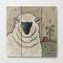 White Sheep by Donna Atkins Metal Print