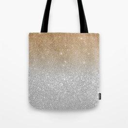 Trendy silver elegant gold gradient glitter pattern Tote Bag
