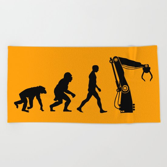 Replaced  |  Human Evolution Beach Towel