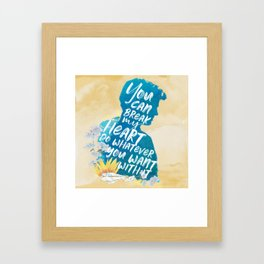 peter kavinsky - to all the boys i've loved before Framed Art Print