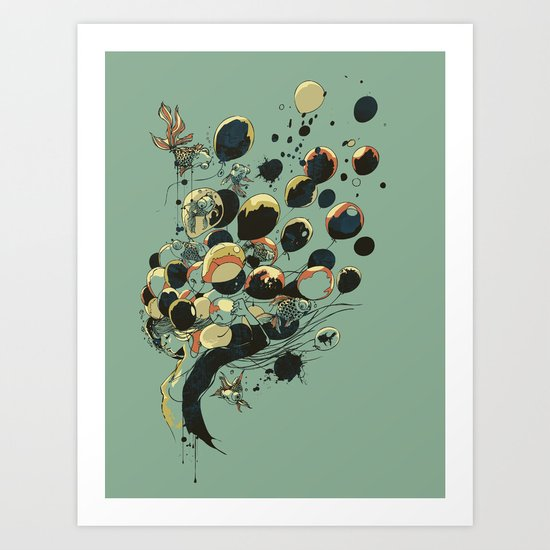 Floating Memories Art Print