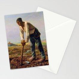 12,000pixel-500dpi - Jean-Francois Millet - Man With A Hoe - Digital Remastered Edition Stationery Cards