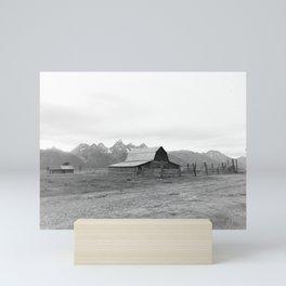 Grand Tetons Barn View Wyoming Mini Art Print