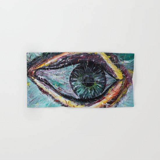 Eye in green Hand & Bath Towel