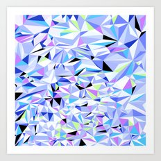 Periwinkle Polygons Art Print