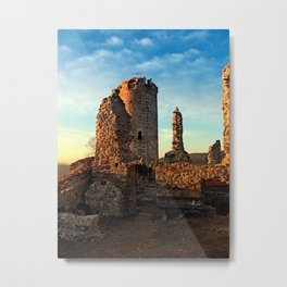The ruins of Waxenberg castle | architectural photography Metal Print