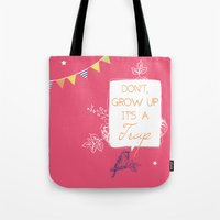 neverland Tote Bags featuring Neverland by Little Joy Designs