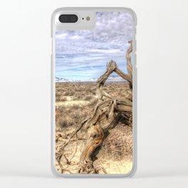 Desert Driftwood Clear iPhone Case