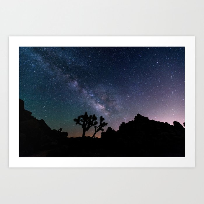 Desert Night Sky Starry Night Photography Art Print
