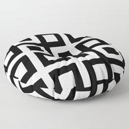 Geometric Pattern #33 (square loop) Floor Pillow