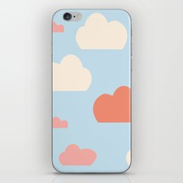 cloud blue and pink iPhone Skin