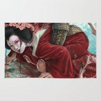sakura Area & Throw Rugs featuring Sakura by Claudia SGI