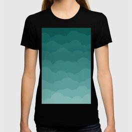 Teal Ombre Clouds T-shirt