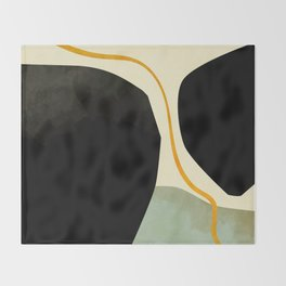 shapes organic mid century modern Throw Blanket