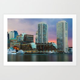 Boston, Massachusetts at Sunset 1 Art Print