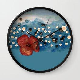 Coquelicot intemporel Wall Clock