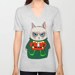 GC in Holiday Sweater 05 Unisex V-Neck