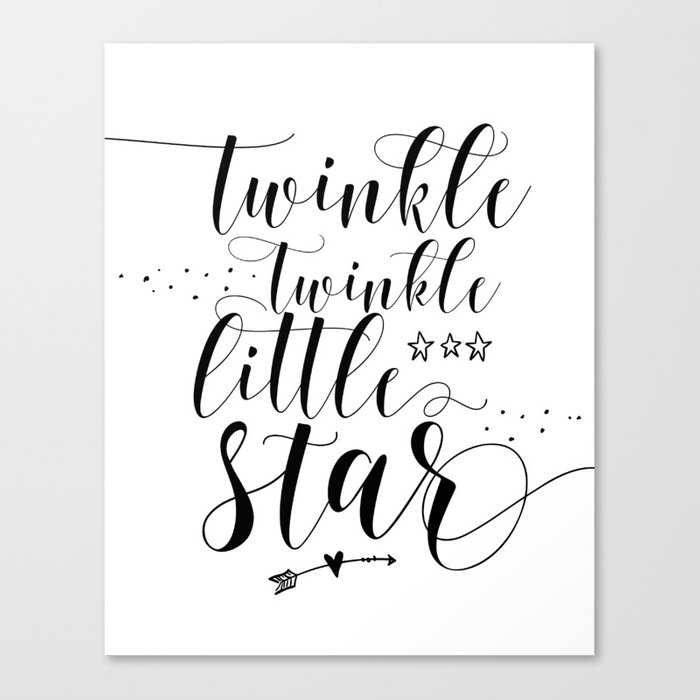 fba964951 Twinkle Twinkle Little Star print, motivational print, printable quote  Canvas Print
