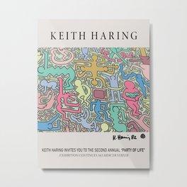 Keith Art, Exhibition Poster, Japan Vintage Print Metal Print