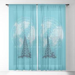 World News Sheer Curtain