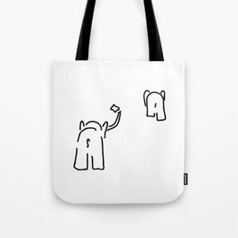 pair of elephants say goodbye Tote Bag