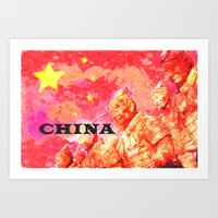 china Art Prints featuring China by Brian Raggatt
