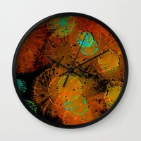 fireworks Wall Clocks featuring Fireworks by Imagology