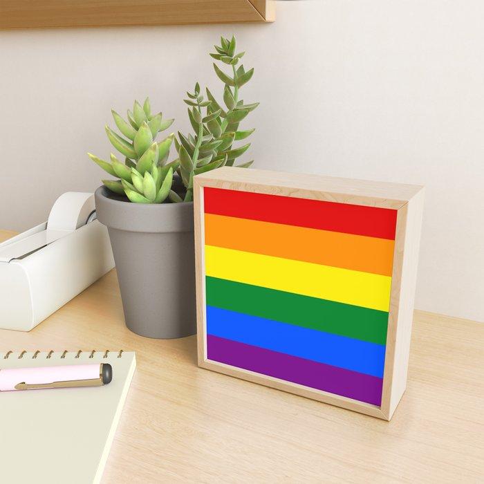 Pride Rainbow Colors Framed Mini Art Print