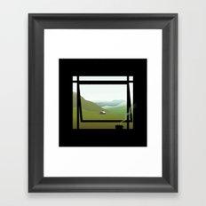 WINDOWS 005: THE HILLS Framed Art Print