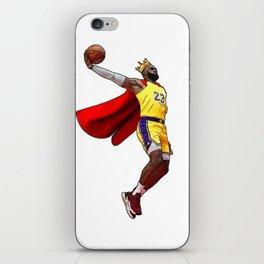 King LA Bron James Dunking iPhone Skin