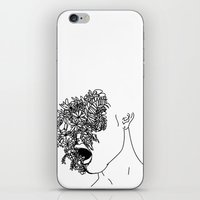 anxiety iPhone & iPod Skins featuring Anxiety by Jacquelyn Anthony