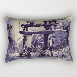 Antiquated Machinery Rectangular Pillow