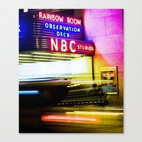 30 rock Canvas Prints featuring 30 ROCK by grsphoto