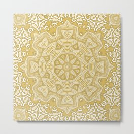 Snowflake ornament 5 Metal Print